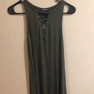 Green dress from Express